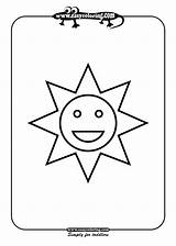 Shapes Coloring Sun Pages Easy Simple Drawing Print Toddlers Using Printable Colouring Lots Young Easycoloring Crafts Alphabet Website Sheets Drawings sketch template