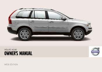 volvo xc owners manual   pages