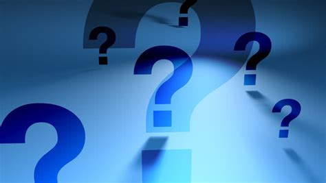 Question Marks Blue Spinning Backgorund Stock Footage