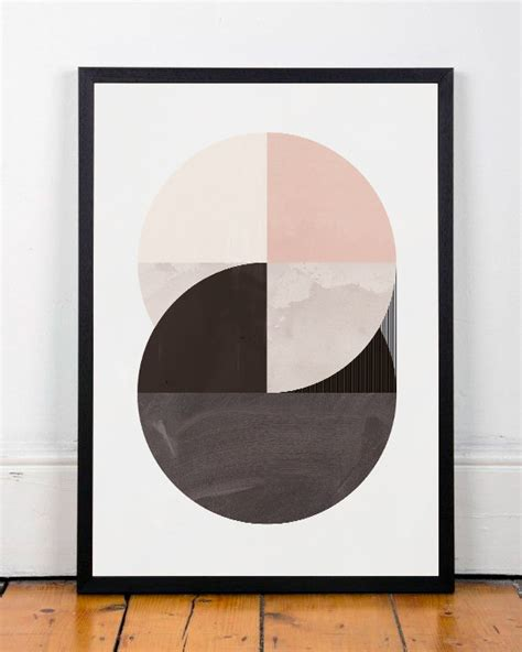abstract wall geometric wall print modern by