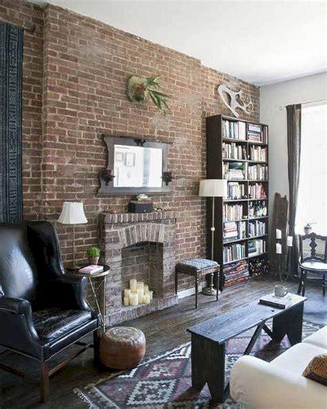 brick wall living room ideas  decorathing