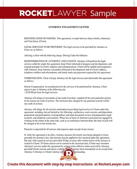 attorney engagement letter attorney engagement letter for firm client 20522 | Sample Attorney Engagement Letter Form Template