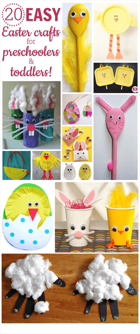 20 easy easter crafts for preschoolers and toddlers 218 | easter crafts for preschoolers and toddlers