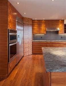 Bookmatched Koa Wood Kitchen Creates Winning Warmth