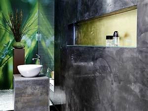 Wasserfeste Tapete Fürs Bad : wand06 senza das fugenlose bad aus kalk marmor putz wandgestaltungstechniken ~ Markanthonyermac.com Haus und Dekorationen