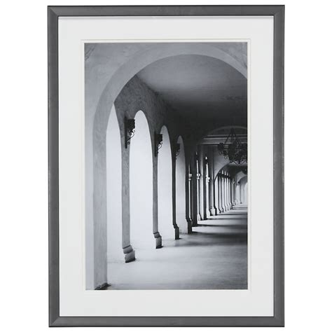 pillar gray framed wall art