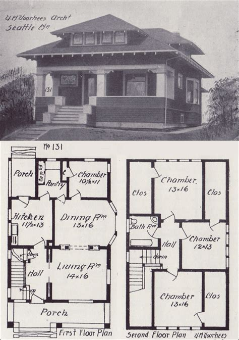 two bedroom cottage plans 1908 hip roofed craftsman bungalow plan vintage seattle