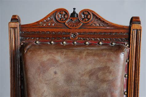Mahogany And Leather Large Childs Armchair For Sale At 1stdibs
