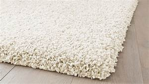 65eur tapis contemporain tapis shaggy blanc diamond saint With tapis shaggy blanc