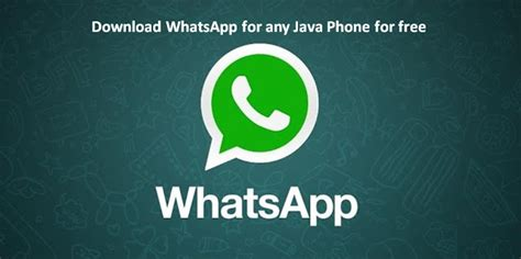 whatsapp for java phone free jar app install