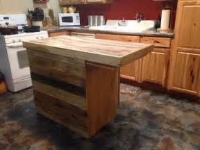 Large Portable Kitchen Island Reclaimed Pallet Kitchen Island Table 99 Pallets