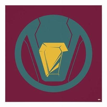 Vision Avengers Icon Poster Marvel Symbol Symbols
