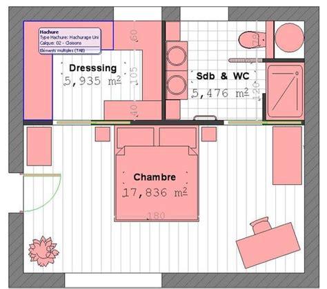 plan chambre parentale avec salle de bain et dressing plan suite parentale avec salle de bain et dressing 4