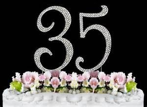 35 year wedding anniversary large rhinestone number 35 anniversary birthday wedding cake topper free shipping tradesy