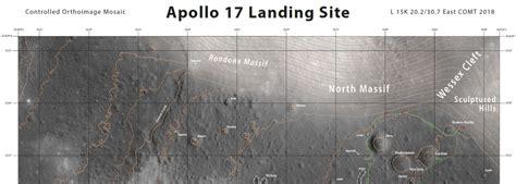 Apollo 17 Landing Site Map Scale 15000  Usgs Astrogeology