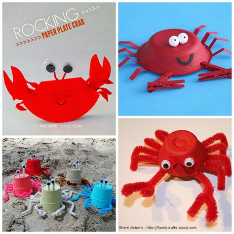crab crafts for to make this summer crafty morning 594 | summer crab crafts for kids to make