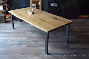 envie d39une table a manger en chene massif avec pied en With meuble tv sur mesure design 17 table basse industrielle carree bois metal micheli design