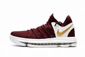 2017 Nike KD 10 Burgundy White Gold Men's Basketball Shoes ...