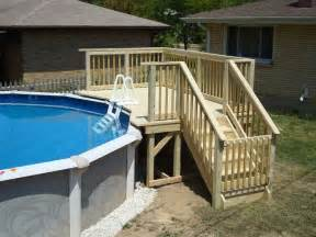 25 best ideas about above ground pool stairs on above ground pool landscaping