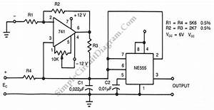 Voltage To Frequency Converter  U2013 Simple Circuit Diagram
