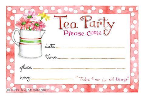 tea party blank invitations
