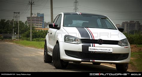 volkswagen polo white modified vw polo modified by ide autoworks