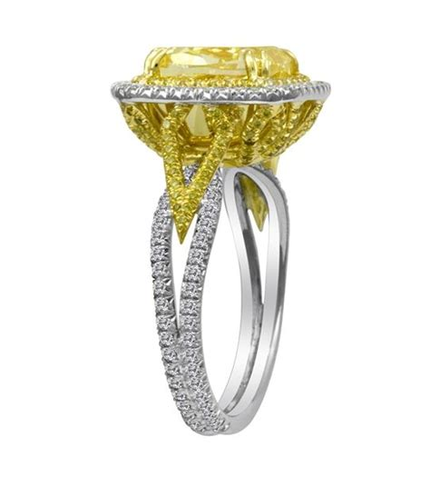 first image design fancy yellow diamond ring can t