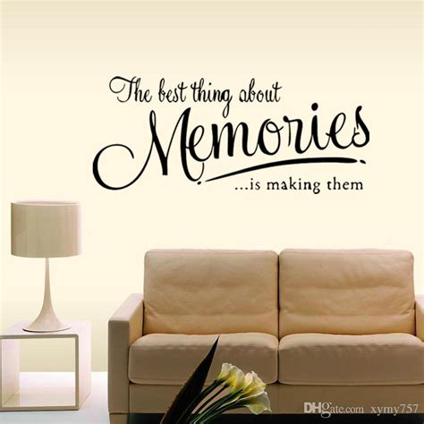 The Memory Wall Quote Decal Removable Stickers Funny Decor