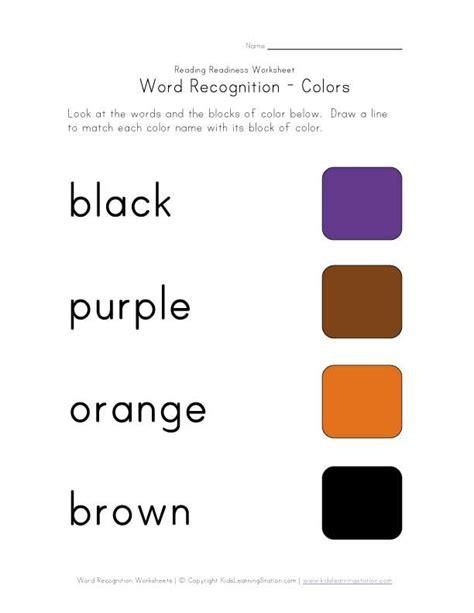 recognize color names worksheet homeschooling preschool worksheets for kids worksheets