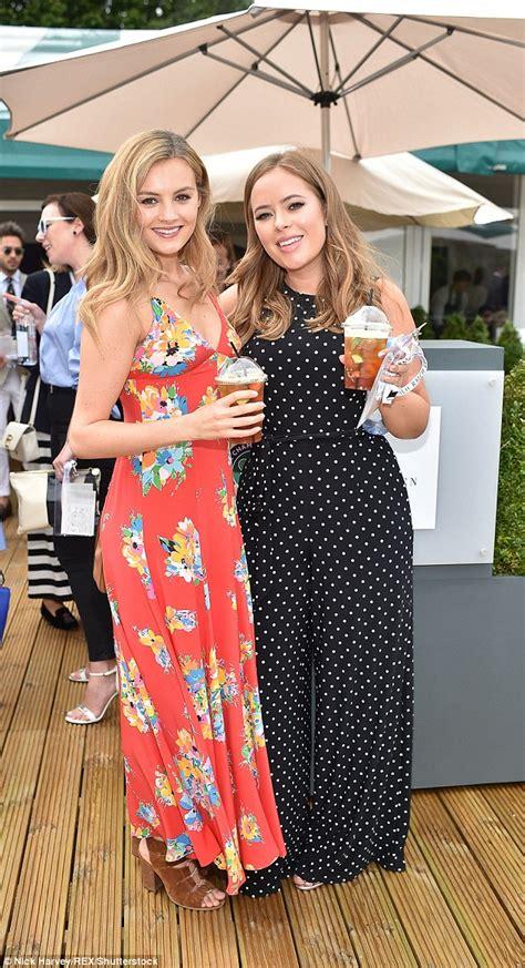 pippa middleton wears geometric print dress  wimbledon