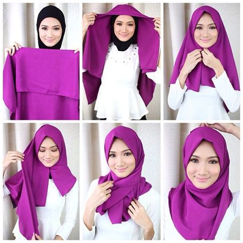 toko jilbab segi empat 4 gaya cara memakai jilbab segi empat model pashmina