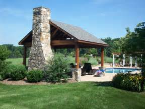 Pool Pavilion with Fireplace
