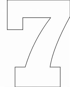 6 best images of printable block number 7 block letter With 7 letter stencils
