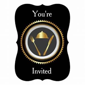 Fine Dining Invitations & Announcements | Zazzle