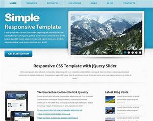 115 free html5 css3 website templates the design hill for Simple homepage template