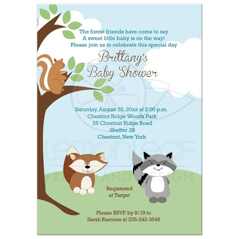 Enchanted Forest Animals Woodland Baby Shower Invi With