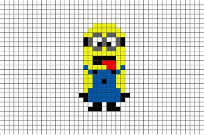 Pixel Minion Gru Despicable Brik Template Animated