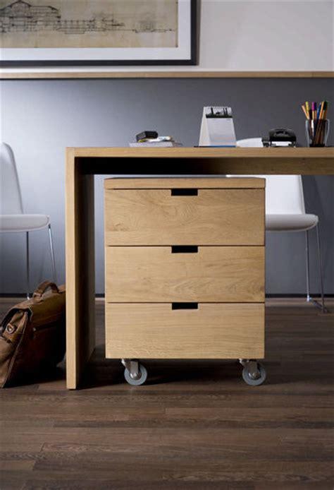 bureau bois massif caisson de bureau en bois massif