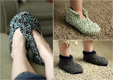 crochet patterns  childrens slippers crochet