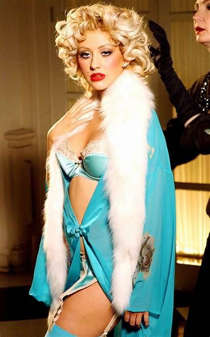 Aguilera Christina 2004 Lingerie Bikini Evolution Head