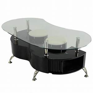 Funky palermo contemporary glass coffee table in black for Coffee table uk online