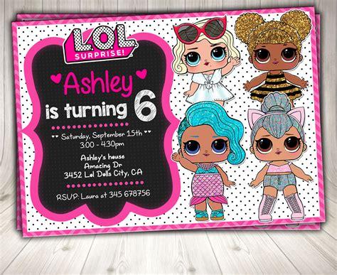 Invito Lol Bambole Invito Festa A Tema A Sorpresa Lol Lol