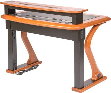 desk with monitor shelf premium wood desktop riser shelf petite caretta workspace