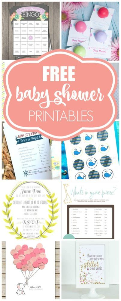 Free Baby Shower Printable - 15 free baby shower printables pretty my