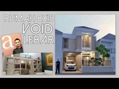 desain rumah lahan   void lebar kode  youtube