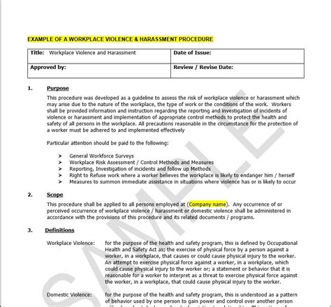 workplace harassment policy template sles diy bill 168 package wsib claims management and hr assistance for employers