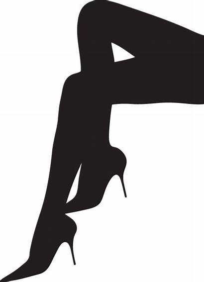 Legs Silhouette Heels Clipart Woman Lady Heel