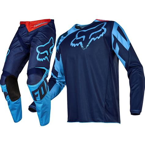 fox motocross gear fox racing 2017 mx new 180 race navy blue jersey pants