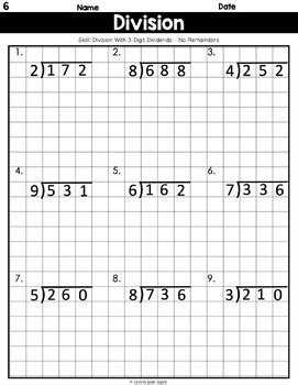 long division  graph paper  digits   digit
