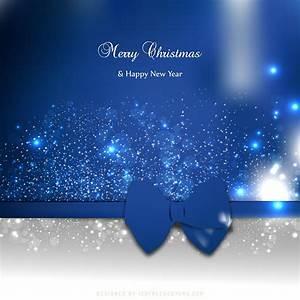 Blue Christmas Card - Christmas Lights Card and Decore